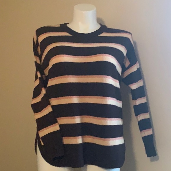 Sonoma brown striped sweater Size Large